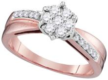 Genuine 0.33 CTW Diamond Ladies Ring 10KT Two-tone Gold - GD110147-REF#32H3W