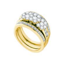 Genuine 1.51 CTW Diamond Bridal Set Ring 14KT Yellow Gold - GD47477-REF#198F2N