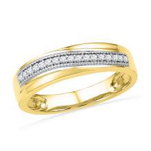 Genuine 0.15 CTW Diamond Ladies Ring 10KT Yellow Gold - GD101380-REF#32Z3T