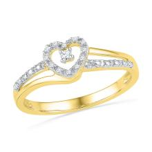 Genuine 0.05 CTW Diamond Ladies Ring 10KT Yellow Gold - GD101781-REF#13A5X