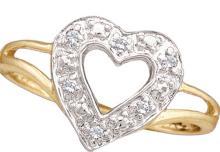 Genuine 0.05 CTW Diamond Ladies Ring 10KT Yellow Gold - GD15422-REF#10G7M
