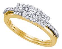 Natural 0.50 ctw Diamond Bridal Set Ring 14K Yellow Gold - GD81207-REF#53N9F