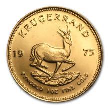 One 1975 South Africa 1 oz Gold Krugerrand - WJA75213