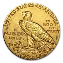 One $5 Indian Gold Half Eagle XF (Random Years) - WJA7229