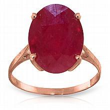 Genuine 7.5 ctw Ruby Ring Jewelry 14KT Rose Gold - GG-4171-REF#82F2Z