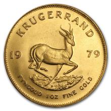 One 1979 South Africa 1 oz Gold Krugerrand - WJA88637
