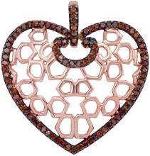 10K Rose Gold Jewelry 0.25 ctw Cognac Diamond Pendant - GD#93450 - REF#F21X6