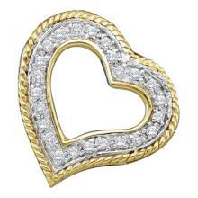 10K Yellow Gold Jewelry 0.18 ctw Diamond Pendant - GD#39537 - REF#U9K7