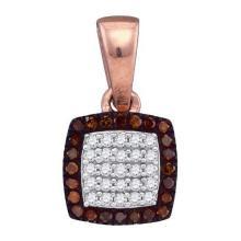 10K Rose Gold Jewelry 0.14 ctw Diamond Pendant - GD#88376 - REF#W12N1
