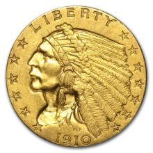 One $2.50 Indian Gold Quarter Eagle AU (Random Years) - WJA4025