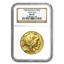 One 2008 1 oz Gold Buffalo MS-69 NGC (Early Releases) - WJA38258