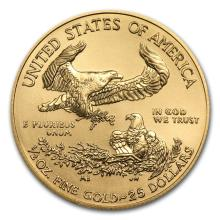 One 2015 1/2 oz Gold American Eagle BU - WJA84884