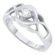 10K White Gold Jewelry 0.15 ctw Diamond Bridal Ring - GD#37442