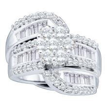 14K White Gold Jewelry 2.0 ctw Diamond Bridal Ring - GD#15208