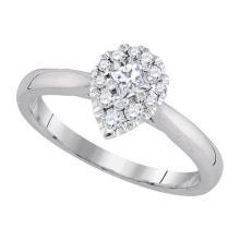 14K White Gold Jewelry 0.39 ctw Diamond Bridal Ring - GD#82951