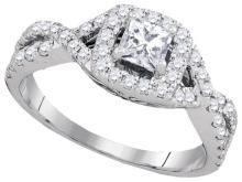 14K White Gold Jewelry 1.0 ctw Diamond Bridal Ring - GD#93829