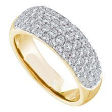 14K Yellow Gold Jewelry 0.82 ctw Diamond Ladies Ring - GD#57256