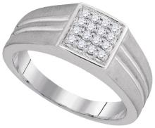 10K White Gold Jewelry 0.25 ctw Diamond Men's Ring - GD#94050