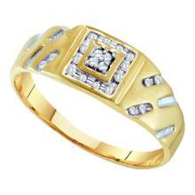 10K Yellow Gold Jewelry 0.12 ctw Diamond Men's Ring - GD#11798