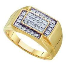 10K Yellow Gold Jewelry 0.25 ctw Diamond Men's Ring - GD#40656