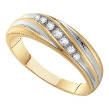 14K Yellow Gold Jewelry 0.16 ctw Diamond Men's Ring - GD#66844