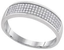 10K White Gold Jewelry 0.28 ctw Diamond Men's Ring - GD#93996