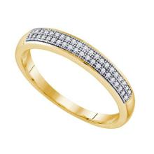 10K Yellow Gold Jewelry 0.15 ctw Diamond Men's Ring - GD#64561