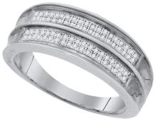 Fine Silver Jewelry 0.22 ctw Diamond Men's Ring - GD#63601