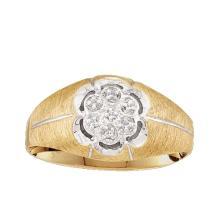 14K Yellow Gold Jewelry 0.02 ctw Diamond Men's Ring - GD#22596