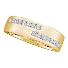 14K Yellow Gold Jewelry 0.50 ctw Diamond Men's Ring - GD#40227