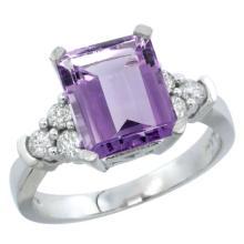 Natural 2.86 ctw swiss-blue-topaz & Diamond Engagement Ring 14K White Gold - SC#CW404167