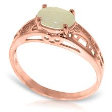 Genuine 0.45 ctw Opal Ring Jewelry 14KT Rose Gold - GG#4366
