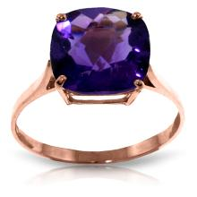 Genuine 3.6 ctw Amethyst Ring Jewelry 14KT Rose Gold - GG#2311