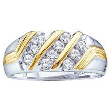 14K 2Tone Gold Jewelry 0.50 ctw Diamond Men's Ring - GD#24947