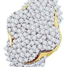10K Yellow Gold Jewelry 7.0 ctw Diamond Ladies Ring - GD#9328 - REF#W240N1