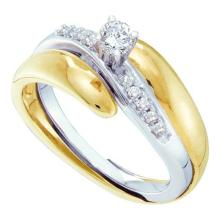 10K 2Tone Gold Jewelry 0.25 ctw Diamond Bridal Ring - GD#41249 - REF#G31V2