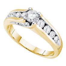 14K Yellow Gold Jewelry 1.0 ctw Diamond Bridal Ring - GD#41719 - REF#V114T1