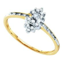 10K Yellow Gold Jewelry 0.12 ctw Diamond Ladies Ring - GD#10249 - REF#F7X3