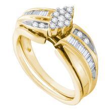 10K Yellow Gold Jewelry 0.40 ctw Diamond Bridal Ring Set - GD#41889 - REF#N36Y1