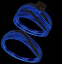 10K Yellow Gold Jewelry 0.19 ctw Diamond Trio Ring Set - GD#93874 - REF#Z26W4