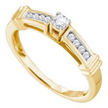 14K Yellow Gold Jewelry 0.25 ctw Diamond Bridal Ring - GD#46729 - REF#Z42W1