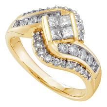 14K Yellow Gold Jewelry 1.0 ctw Diamond Ladies Ring - GD#45398 - REF#F99X6
