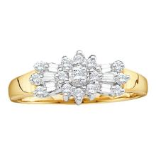 10K Yellow Gold Jewelry 0.25 ctw Diamond Ladies Ring - GD#5223 - REF#A18Z1