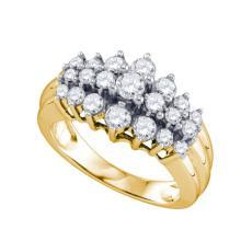 10K Yellow Gold Jewelry 1.04 ctw Diamond Ladies Ring - GD#74309 - REF#T72G1