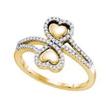 10K Yellow Gold Jewelry 0.25 ctw Diamond Ladies Ring - GD#64677 - REF#T27G7