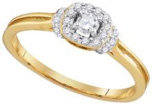 10K Yellow Gold Jewelry 0.25 ctw Diamond Ladies Ring - GD#97186 - REF#N21Y6