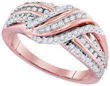10K 2Tone Gold Jewelry 0.50 ctw Diamond Ladies Ring - GD#97306 - REF#G30V1