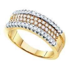 14K Yellow Gold Jewelry 0.75 ctw Diamond Ladies Ring - GD#51860 - REF#U60K1
