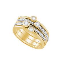 10K 2Tone Gold Jewelry 0.50 ctw Diamond Ladies Ring - GD#72908 - REF#M48U1