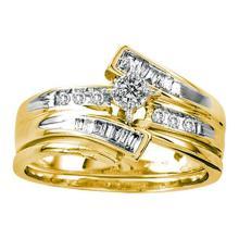 10K Yellow Gold Jewelry 0.25 ctw Diamond Bridal Ring Set - GD#53271 - REF#R30F1